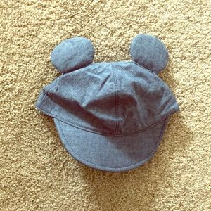 Chambray Mickey Mouse ears hat